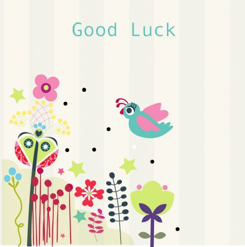Good Luck Card - White